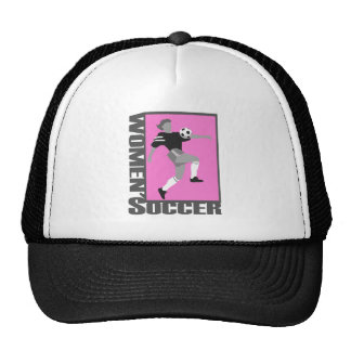 womens soccer grey and pink logo graphic hat
