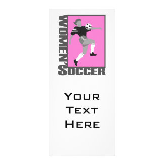 womens soccer grey and pink logo graphic rack card design