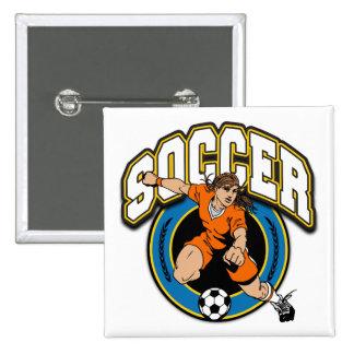 Women's Soccer Logo Button