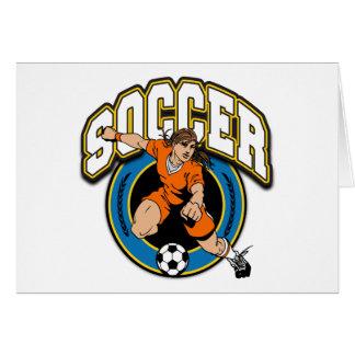 Women's Soccer Logo Cards