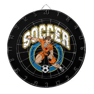 Women's Soccer Logo Dartboard With Darts