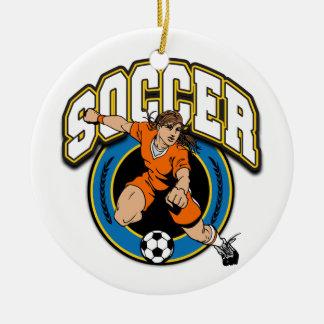 Women's Soccer Logo Christmas Ornament
