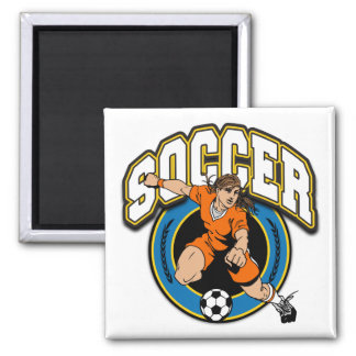 Women's Soccer Logo Fridge Magnets