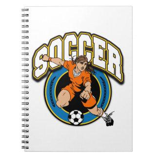 Women's Soccer Logo Notebook