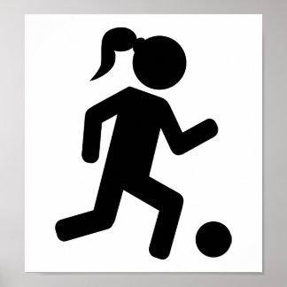 Women's soccer poster