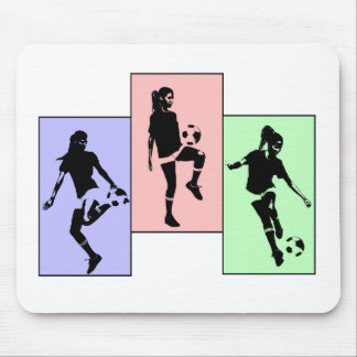 Womens Soccer Skills Mouse Pad