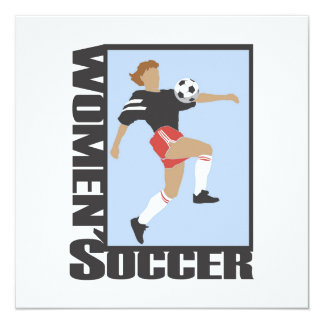 Women's Soccer T shirts and Gifts 13 Cm X 13 Cm Square Invitation Card