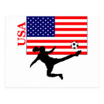 Women's Soccer USA Postcard