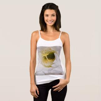 Women's Spaghetti Strap Tank Top - White Cactus