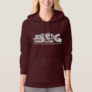 Women's Specific Fitted Hoody - DARK RED