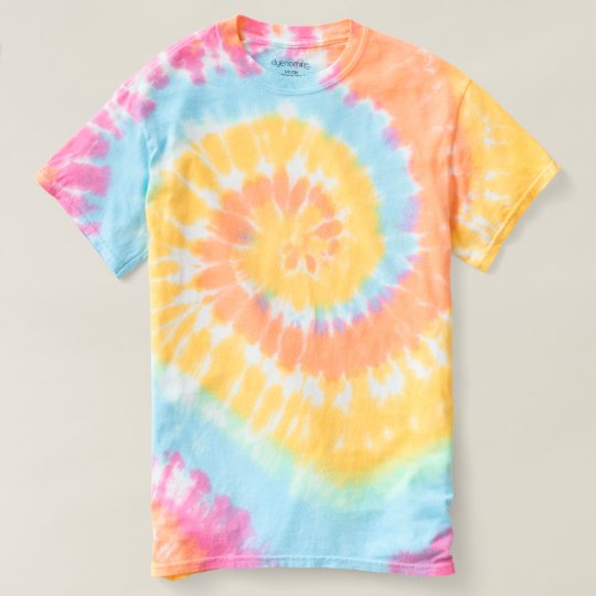 Women's Spiral Tie-Dye T-Shirt Pastel Swirl