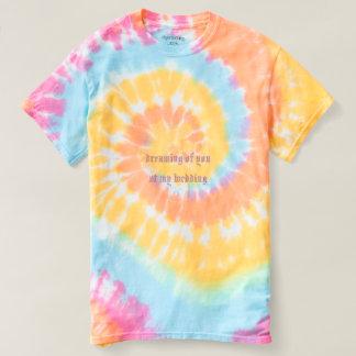 women's spiral tie-dye t-shirt rainbow swirl