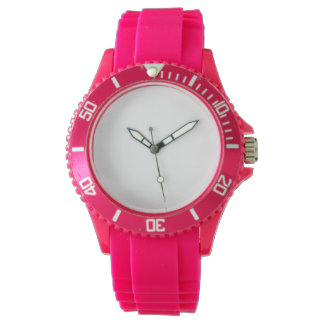 Women's Sport Pink Silicon Watch