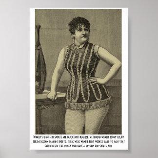 Women's sports poster
