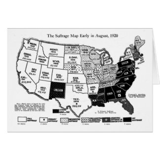 Women's Suffrage Map Card