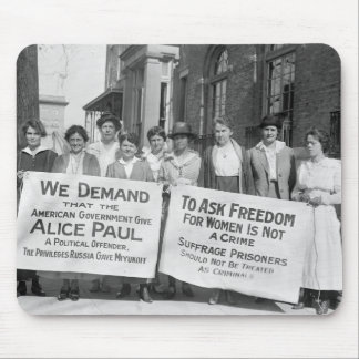 Women's Suffrage Pickets, 1917 Mouse Mat