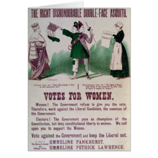 Women's Suffrage Poster Greeting Card