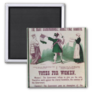Women's Suffrage Poster Square Magnet