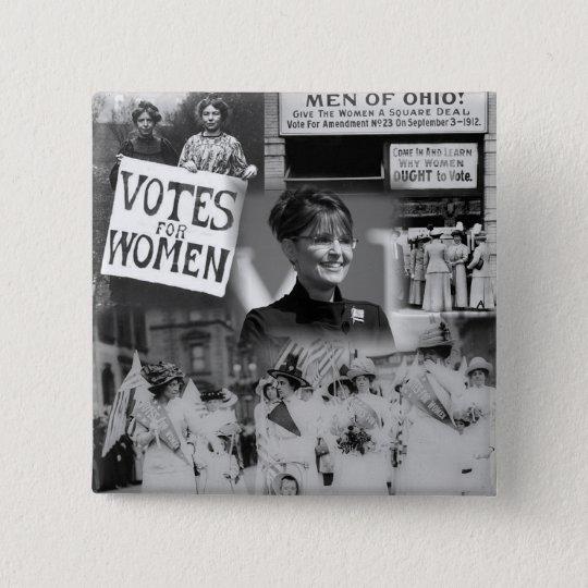 Women's Suffrage Sarah Palin Button