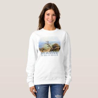 Women's Sweatshirt Maine Coastal Ocean Beach