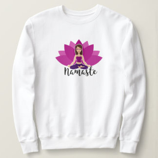 Women's Sweatshirt with namaste Yoga Girl