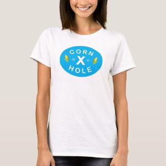 Women's T shirt Blue & Corn