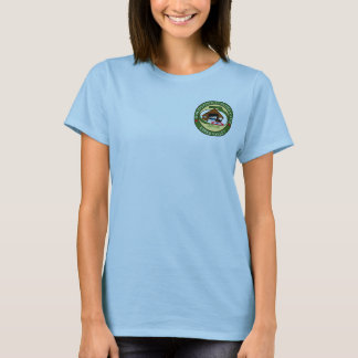 Women's t-shirt, light blue, curling logo T-Shirt