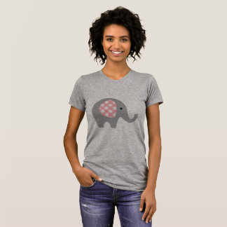 Women's T-shirt with Grey/Pink Elephant