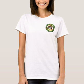 Women's t-shirt with Woodstock Curling logo