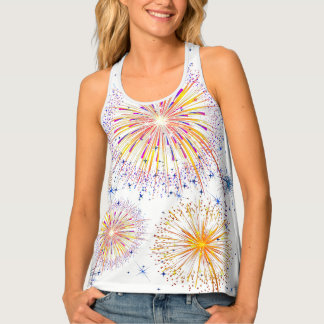 Womens Tank Top-Fireworks