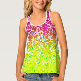 Women's Tank Top Glitter Graphic