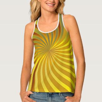 Women's Tank Top Gold Spiral Vortex