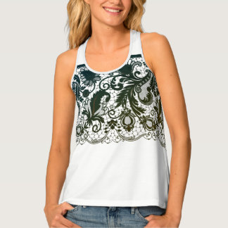 Womens Tank Top-Lace