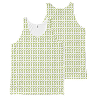 Women's_Tank-Tops_Leaves-Pattern-Green All-Over Print Tank Top