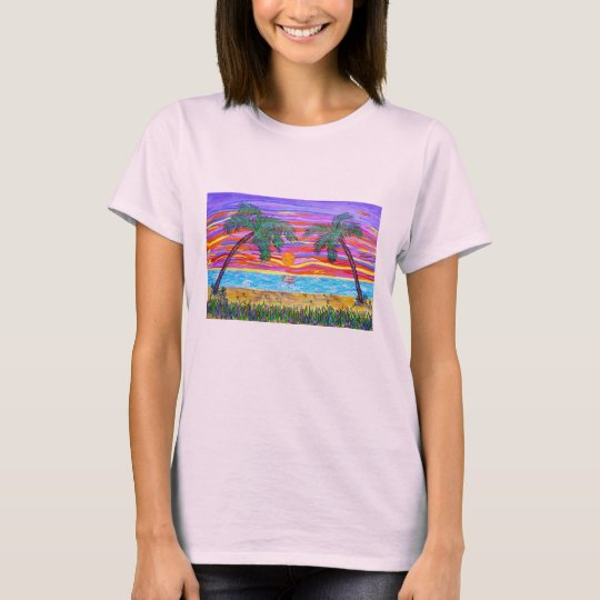 Women's Tee - Peaceful Tropical Paradise