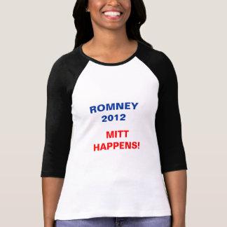 Women's Tee - Romney 2012 - Mitt Happens!