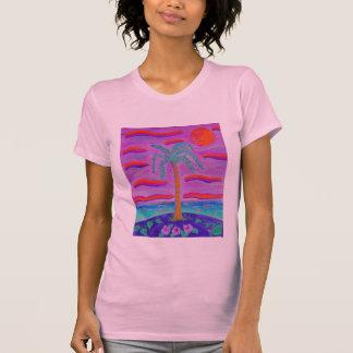 Women's Tee Shirt -Grape Tropicana