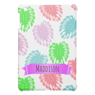 Women's Teen Girls Personalized Pastel Tropical iPad Mini Covers