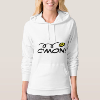 Womens tennis clothing | Hoodie with funny slogan