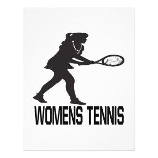 Womens Tennis Full Color Flyer