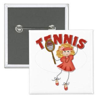 Women's Tennis Gift 15 Cm Square Badge