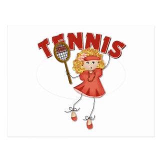 Women's Tennis Gift Post Card