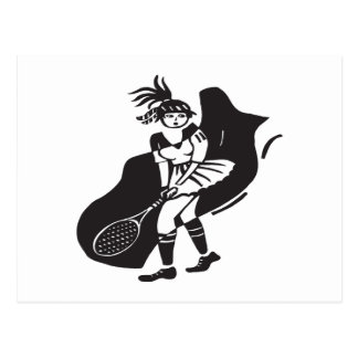Womens Tennis Post Cards