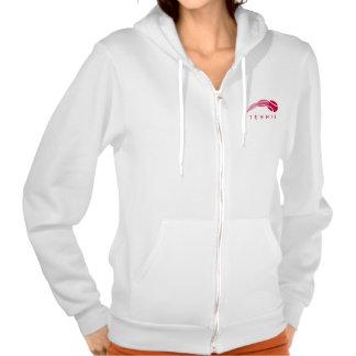 Women's tennis wear | White zipped hoodie