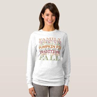 Women's Thanksgiving and Fall T-shirt Long Sleeve