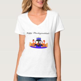 Women's Thanksgivukkah Funny Turkey Wine Tshirt