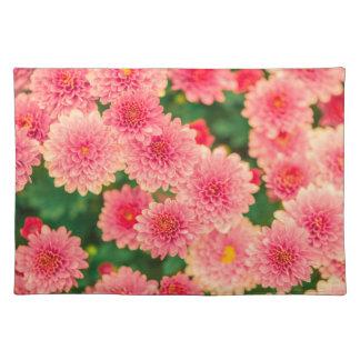Women's trendy pink flower cloth place mat