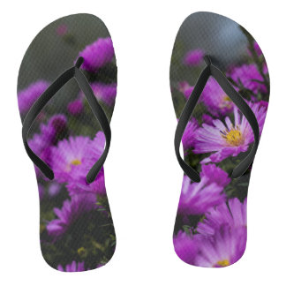 Women's trendy purple flower Flip Flops