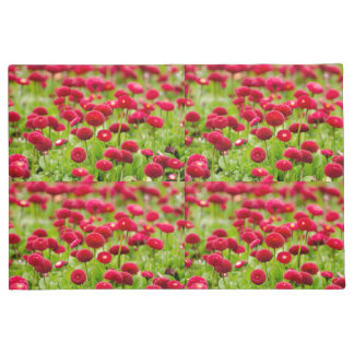 Women's trendy red summer flower  doormat