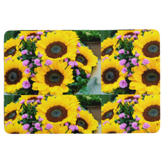 women's trendy sun flower floor  mat